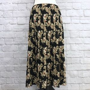 Alfred Dunner Floral Pleated Skirt Size 10